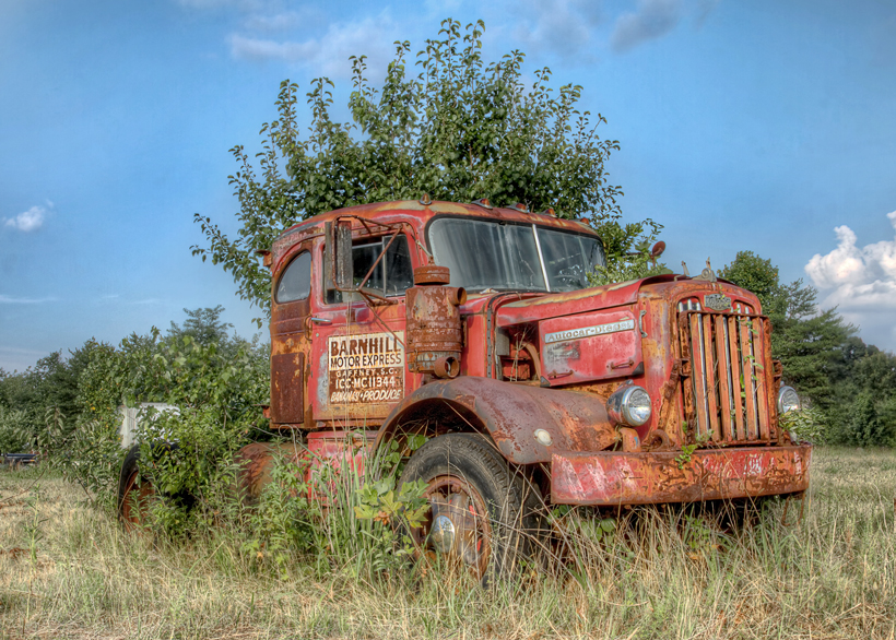 HDR, Truck, South Carolina, Grocery, Rusted
