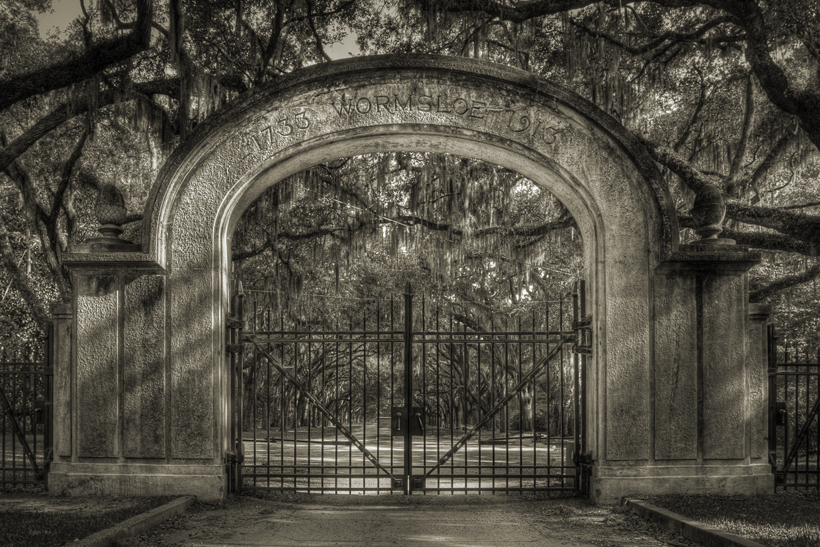 The Gates of Wormsloe Plantation